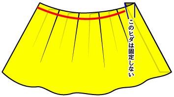 ソフトプリーツスカートの作り方