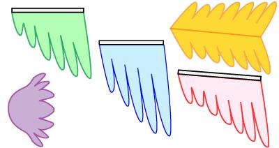 羽根のようなそでの型紙の作り方