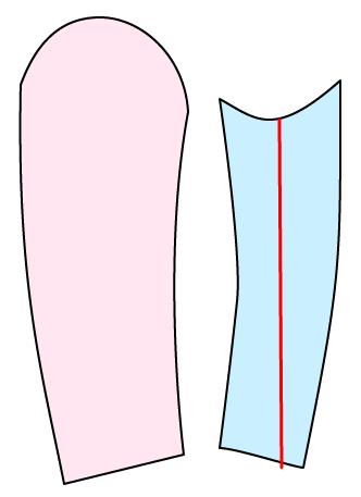 着物風の袖の作り方