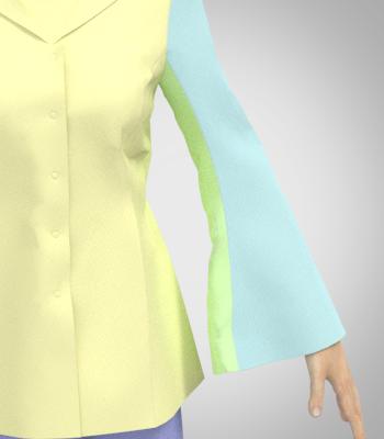 姫そでの角度によるボリュームの比較画像