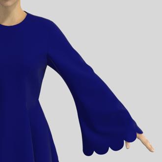 スカラップの縁取りの縫い方