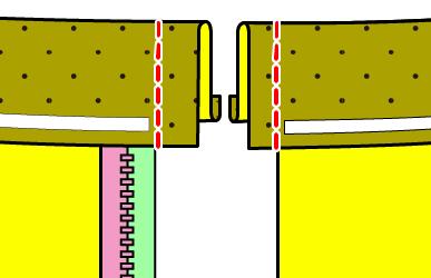 ファスナー開きのワイドパンツの作り方