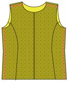 脇と肩を縫う