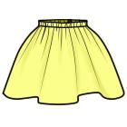 ギャザースカートの作りかた