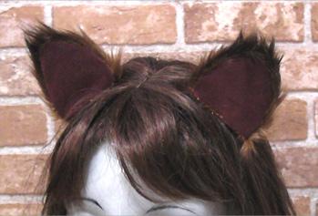 かんたんなネコ耳の縫い方