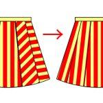 フレアスカートの柄を出来るだけそろえる方法