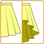 スカートの型紙の前後の長さを変える方法