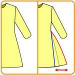 【おさいほう】ワンピーススカートのボリュームを増やす、減らす方法