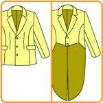 【おさいほう】ジャケットの型紙を燕尾服風に改造する方法