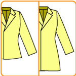 ジャケットの型紙をコートに改造する