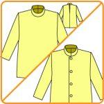後開きの服の型紙を前開きに改造する方法