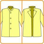 折り返しの襟のある服に改造する方法