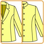 テーラードジャケットをスタンドカラーに改造する