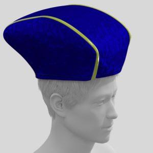 三国志のゲームの軍師とかがかぶってそうな帽子の型紙の作り方